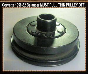 Corvette 1956 1957 1958 1959 1960  Harmonic Balancer Rivet Pulley  to it READ IT