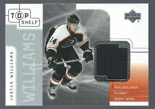 2001-02 Upper Deck Top Shelf Jersey Justin Williams Philadelphia Flyers