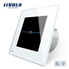 Livolo Touch Glas Lichtschalter Steckdose Dimmer FunkSchalter Steckdose in Weiss