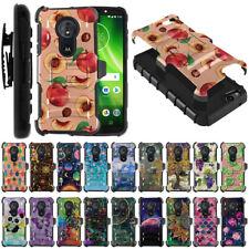 "For Motorola Moto G6 Play / Moto E5 5.7"" Hybrid Rugged Stand Holster Case Cover"