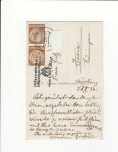 Egloffstein, Herman von, Autograph, Postkarte