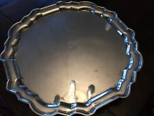 LG TIFFANY & CO. STERLING SILVER SALVER TRAY LONDON 1930 C.S.HARRIS & SONS