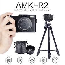 MKOV 24MP 1080P Rotatable Digital DSLR Camera & Wide-angle Lens & Tripod Mount