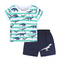 2PCS Toddler Kids Boy Summer Tops T-shirt Short Pants Shorts Casual Outfits Set