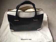 LK Bennett Rosamund Medium Navy/White Leather Bag