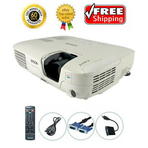 Used Epson PowerLite S7 3LCD Projector Portable HD 1080i HDMI-adapter bundle