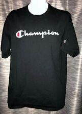 Champion Vintage 90's Script Logo Men's Black Tee T-Shirt XL Extra-Large. BT33