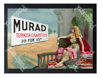 Historic Murad Cigarettes Advertising Postcard 1