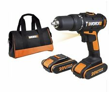 WORX Cordless 20V Li-Ion Hammer Drill with 2 x 1.5Ah Batteries WX371.3