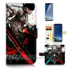 ( For Samsung S8 ) Wallet Case Cover P21203 One Piece Zoro