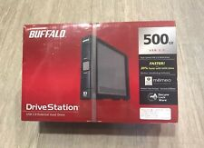 Buffalo External Hard Drive 500GB USB Sata 2.0 Memeo Drive Station Secure Lock