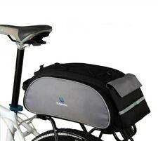 Cycling Bicycle Bike Shoulder Handbag Pannier Rear Seat Bag 13L Rack Trunk Black