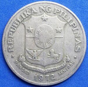 ●《☆♡☆》 1972 1 Piso Jose Rizal,  Republic of the Philippines, Circ. Very Fine.