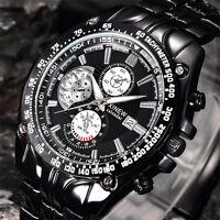 Luxury Men's Military Stainless Steel Watch Date Sport Analog Quartz Wristwatch