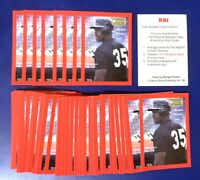 50) FRANK THOMAS - 1991 RBI Magazine Baseball Card LOT
