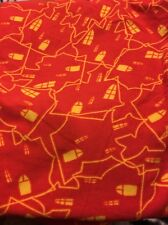 Lularoe Halloween Leggings One Size Haunted Houses Orange Yellow So Soft New!