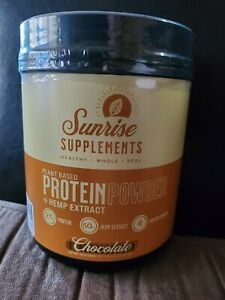 Chocolate Plant Based Protein Powder, Natural Ingredients, Non GMO 15 Servings