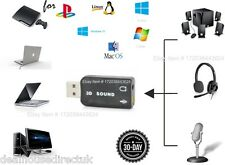 USB a 3.5mm Jack Adaptador Convertidor De Sonido De Micrófono Auricular PC para PS3 Slim PC Macbook