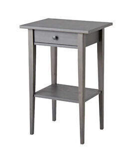 Brand New IKEA HEMNES Nightstand Bed Side Table Gray 003.817.35