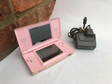 NINTENDO DS LITE CONSOLE PINK HANDHELD SYSTEM TESTED WORKING FREE GAME