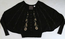 Anthropologie GUINEVERE Evening Abuzz Capelet sweater S embroidered beaded 2009