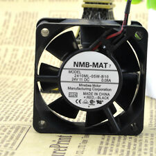 NMB 2410ML-05W-B10 DC24V 0.08A 2pin 60mm connector 60X60X25mm Server Square fan