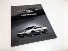 2002 Chrysler Sebring Convertible LX LXi Limited Brochure