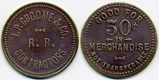 RARE UNLISTED RAILROAD CONSTRUCTION SAWMILL TOKEN SILVER CREEK MISSISSIPPI MS