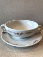 Syracuse China Restaurant Ware Bouillon/ Cream Soup And Saucer Ivory