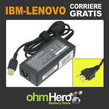 Alimentatore Caricabatterie per IBM-Lenovo 20V 3.2A 65W connettore giallo + pin