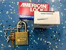 Nib American Lock Hardened Steel Padlock Military Use A5200glwn
