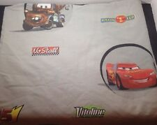 CARS Lightning McQueen Mater TWIN Flat Top Bed Sheet Disney Pixar Fabric Craft