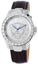 Women's Quartz Watch White Brown Silver Analogue Metal Leather G-60412117260675