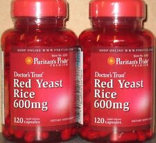 2 x 120 Puritan's Pride Red Yeast Rice 600 mg  240 Capsules (Exp: 07/2020)