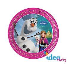 PIATTI FROZEN 19 cm - addobbi tavola Disney festa Compleanno bambina 8 pz