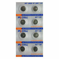 8 piles bouton alcaline Pkcell AG7, LR927, 195, 395, 395A, 399, SR927, LR57