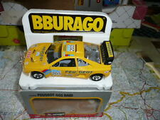 PEUGEOT 405 Raid n°203 Paris Dakar Ancienne BURAGO 1/24 en Boite
