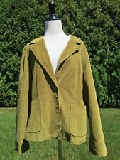 Larry Levine STRETCH Green Corduroy Jacket Size 14 *Perfect Condition*