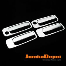 Triple Chrome Door Handle Cover Set Keyhole 4DR For Toyota Camry 1997-2001