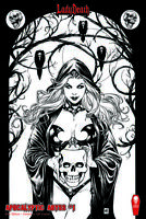 """Lady Death Apocalyptic Abyss #1 """"RAW""""  Mike Krome   Ltd. Ed. 400  Comic Book"""