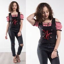 VINTAGE HUNGARIAN GERMAN STYLE WENCH TOP BLOUSE HIPPIE BOHO GOTH EMO LOLITA 10