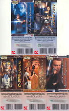 STAR WARS ATTACK OF THE CLONES 2002 KMART SCRATCH-OFF GAME CARD SET OF 5