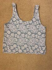 Top Shop Women's Lace Vest Top Size 8