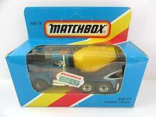 Matchbox Superfast 19d Peterbilt Cement Truck - Blue/Chrome Exhausts - Mint/Box