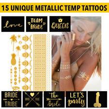 Love Metallico Isola Festival Henné Tatuaggi Temporanei Oro Viso Corpo Vacanza