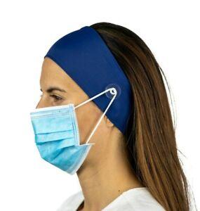 Navy Nurse Headband with Buttons