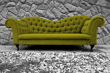 Chesterfield sofa Verona Italia Velvet - Charcoal, Blue and green grass color