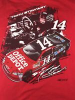 Vintage NASCAR  Tony Stewart #14 Double Sided CHASE AUTHENTICS Racing Shirt 2XL