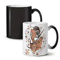 Katana Skeleton NEW Colour Changing Tea Coffee Mug 11 oz | Wellcoda