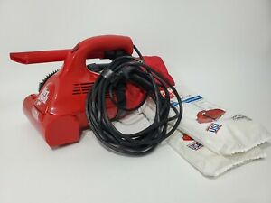 Dirt Devil Ultra Hand Vacuum Red Royal Electric 12 New Bags Very Good Condition